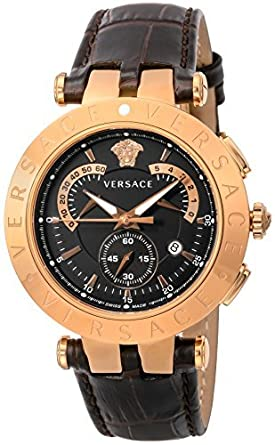 df393ec68d Amazon.com: [Versace] VERSACE watch V-RACECHRONO black dial ...