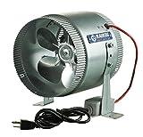 6 inch inline fan hydrofarm - Blauberg Axial Inline Fan 8-Inch