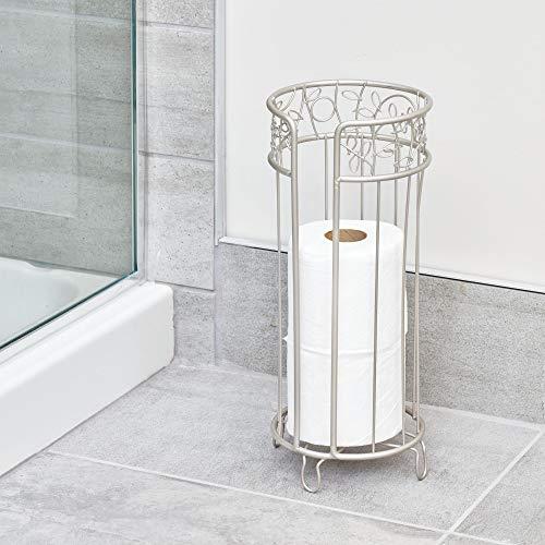 InterDesign Twigz Free Standing Toilet Paper Holder, Spare Roll Bathroom Storage Satin by InterDesign (Image #1)