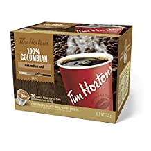 Tim Horton's 100% Colombian Coffee, 30 Count