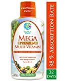 Cheap Mega Premium Liquid Multivitamin -Natural Anti Aging Multi-Vitamin w/20 Vitamins, 70 Minerals, 21 Amino Acids, CoQ10 & Organic Aloe Vera- Orange Flavor- Gluten and Sugar Free- 98% Absorption- 32 Serv