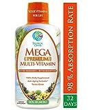 Mega Premium Liquid Multivitamin- Natural anti-aging formula w/15 Vitamins, 70 Minerals, 21 Amino