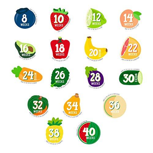 Pearhead Pregnancy Stickers (Pregnancy Week By Week Fruit And Vegetable)