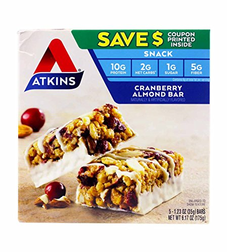 (Atkins Cranberry Almond Bar 3 Boxes of 5 Bars (15 total bars) )