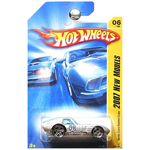 Cobra Silver Wheel - Silver SHELBY COBRA DAYTONA COUPE Hot Wheels 2007 First Edition 1:64 Scale Collectible Die Cast Car Model #6