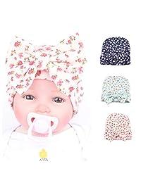 Infant Baby Hat Turban Headwrap Nursery Newborn Baby Hospital Hat Cap with Bow