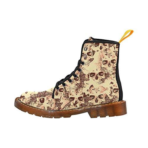 Leinterest Cráneos Nublados Beige Martin Botas Zapatos De Moda Para Mujeres
