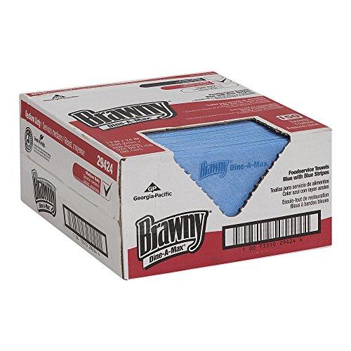 brawny-dine-a-max-29424-blue-stripe-1-4-fold-all-purpose-food-preparation-and-bar-towel-wxl-13000-x-
