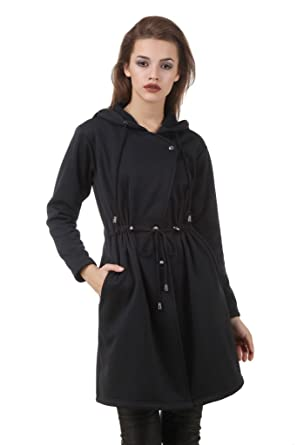 115282c6d954 TEXCO Black Longline Parka Jacket: Amazon.in: Clothing & Accessories