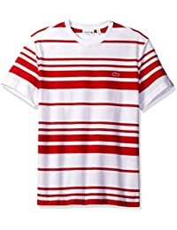 Lacoste Men's Textured Waffle Stripe T-Shirt