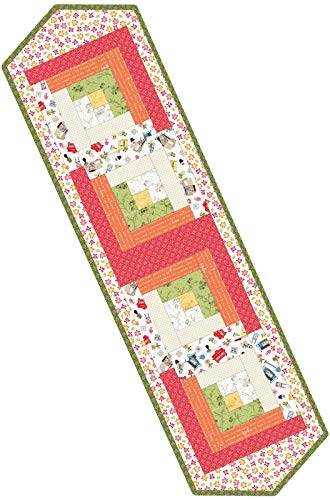 Kim Christopherson Make Yourself at Home Log Cabin Table Runner Pod Quilt Kit Maywood Studio