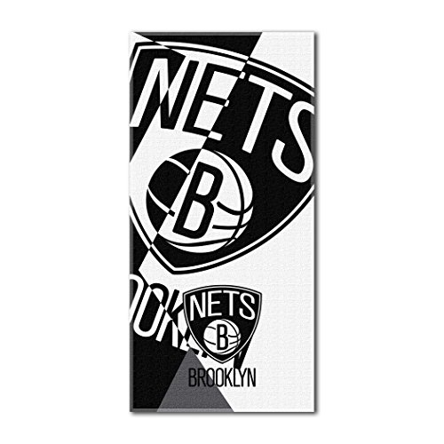 Nets National Basketball League Puzzle 34x72 Over-sized Beach Towel by Northwest Official