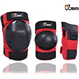 JBM Inline & Roller Skate Protective Gear for Multi Sport Skateboarding, Scootering, Bmx, Biking, Cycling (Red, Youth)
