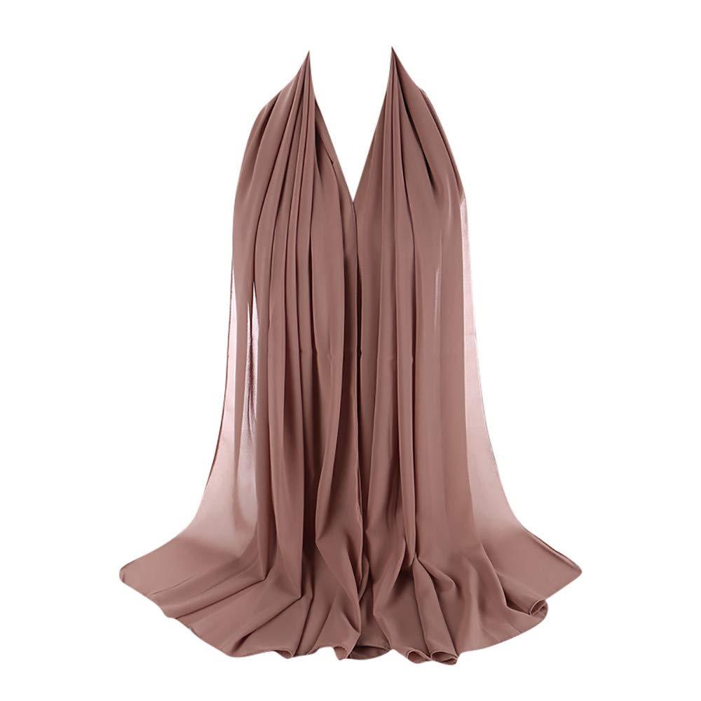 Scarf For Women KIKOY Super Soft Plain Bubble Chiffon Scarf Hijab Wrap Printe Shawls Headband Muslim Hijabs