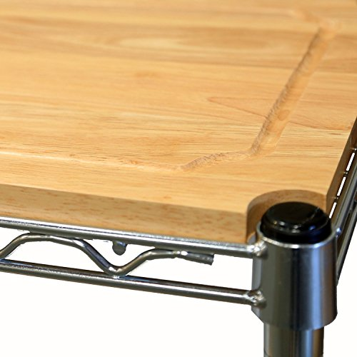 Seville Classics Baker's Rack for Kitchens, Solid Wood Top, 14'' x 36'' x 63'' H by Seville Classics (Image #4)