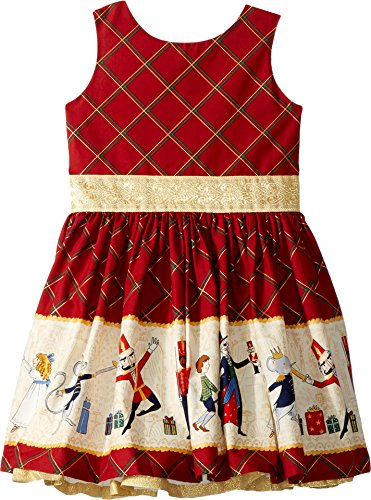 fiveloaves twofish Baby Girl's Nutcracker Party Dress (Toddler/Little Kids/Big Kids) Burgundy 4 by fiveloaves twofish