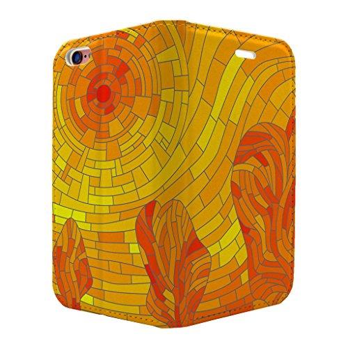gebeizt Glas Muster Voll Flip Case Cover Für Apple iPhone 6–6S–S3519
