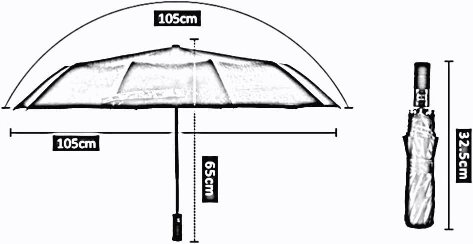 LJHA yusan Men Foldable Automatic Umbrella//Ten Bone Commerce Gift Box//Tri-fold Umbrella//Windproof Sunscreen Sun Umbrella//Personality Dual-use Parasols bumbershoot