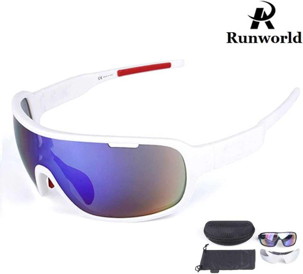 Runworld Polarized Sports Cycling Sunglasses Bike Glasses for Men Women Running Driving Fishing Golf Baseball Racing Ski Goggles