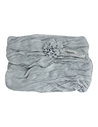 Padoora Newborn Stretch Cheesecloth Baby Wrap Flower Headband Photography Photo Props(light gray)