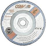 CGW 36256 Economy Abrasive Depressed Center Grinding Wheel, Type 27, Aluminium Oxide, 4-1/2'' Diameter, 5/8''-11 Arbor, 24 Grit (Pack of 10)