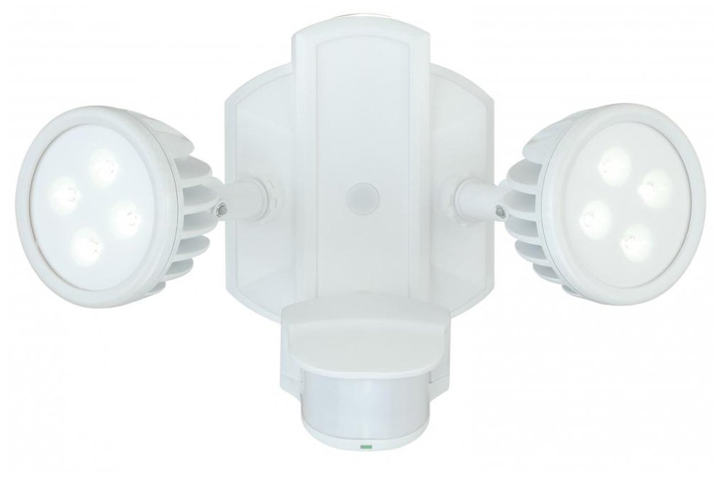Vaxcel T0068 Lambda Outdoor Security Light with Wall Wash Accent, White