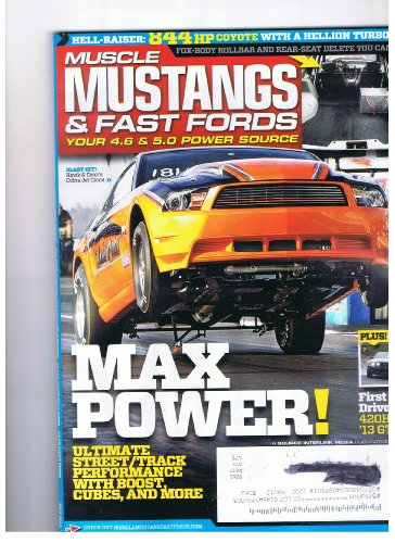 Muscle Mustangs & Fast Fords Magazine July 2012 Max Power - Mustang Gt Vortech