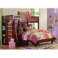 American Furniture Classics Loft Bed Twin Over Full With Six-drawer Chest and Entertainment Console