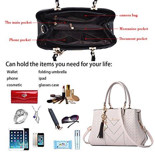 line pelle Tisdaini on borsa tracolla borsetta Crema in bag eleganti borse Bianco saldi donna PSPg1q