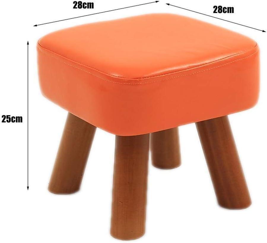 AINIYF Fußbank ändern Schuh Bench Abbürstbar Fuß Hocker Platz Holzbeine Polster Gemütlich Sitz Sitz Stuhl Startseite Multifunktions (Color : Green) Blue