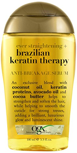 Price comparison product image OGX Anti-Breakage Serum, Ever Straight Brazilian Keratin Therapy, 3.3oz