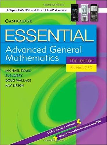 Buy Essential Advanced General Mathematics Third Edition