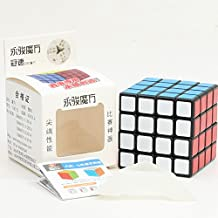 YongJun GuanSu 4x4x4 black cube magic puzzle