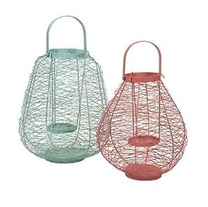 Palermo Wire Lanterns - Set of 2