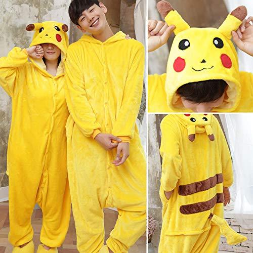 Pikachu Una Ropa Mujeres Pieza Mujer Homewear Jylw Adultos Animal Pijamas Sola Dormir Invierno Suave Super Onesie Conjunto Unicornio Conjuntos De taZxHOqw