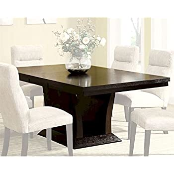 Amazon.com - Homelegance Avery Extension Leaf Pedestal Dining ...