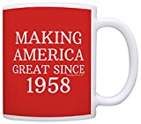 60th Birthday Gifts For All Making America Great Since 1958 Republican Mug Republican Gifts Coffee Mug Tea Cup Red