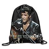 Elvis Presley Playing Guitar Portable Sack Bag, Drawstring Backpack, Sport Bag, Drawstring Bag For Men Women, Sport , Travel, Home, Gym, Outdoor, Activity (16.9 14.2 Inch) Review