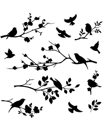 vintage bird stencil template 2 craft,fabric,glass,furniture,wall art up to A0