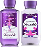 2 Piece Cranberry Twinkle Body Lotion, Shower Gel Set – Full Size For Sale