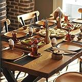 WhatEverULove Natural 21 Pieces Bamboo Breakfast Set/Ecofriendly/Antibacterial/Healthy/Original Design