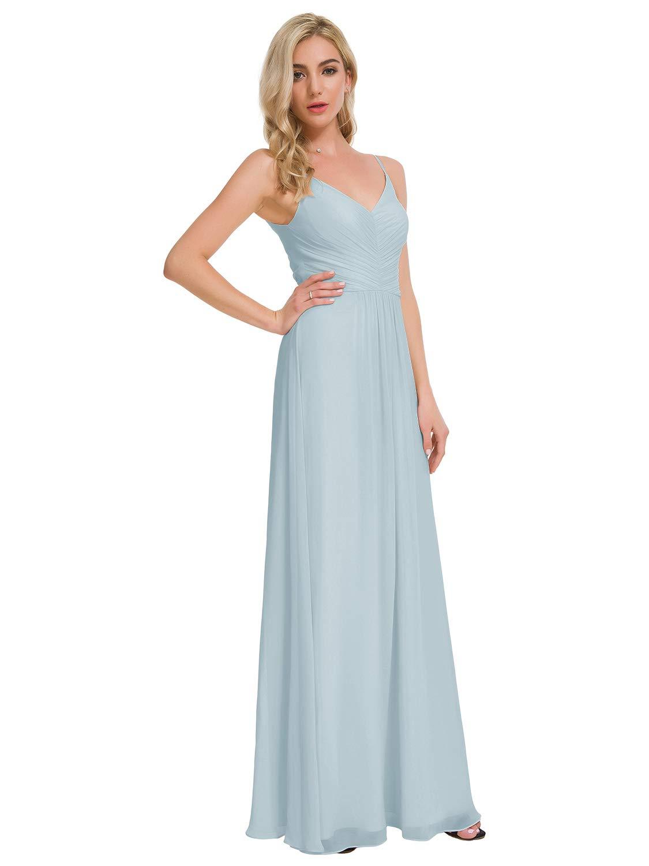 Alicepub Plus Size Bridesmaid Dresses Long Chiffon Maxi Prom ...