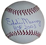Eddie Murray Autographed Baltimore Orioles OML Baseball HOF 2003 JSA