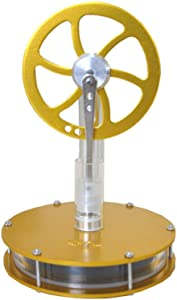 DORAMI Low Temperature Stirling Engine Stainless Motor Steam Heat Education Model Toy Kit (Golden)
