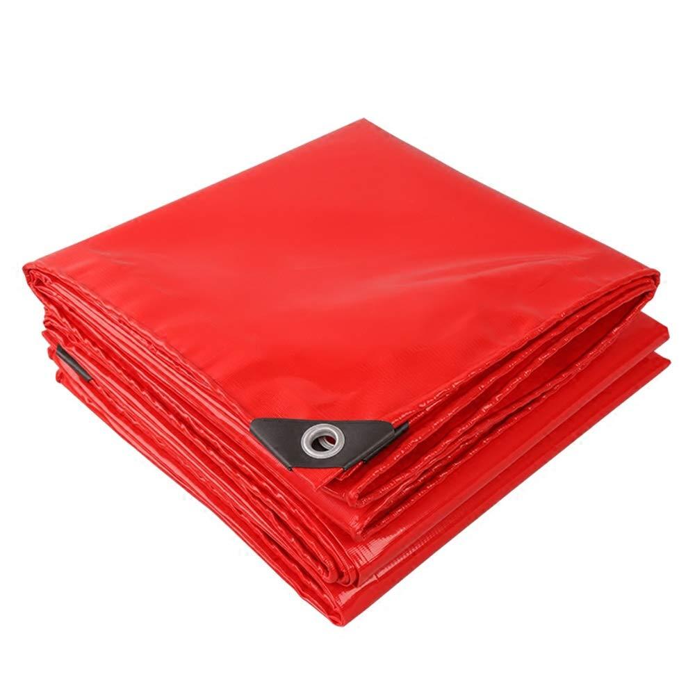 DGLIYJ BÂche de Prougeection en polyéthylène Rouge for Tente de Camping et Plein air - 100% imperméable et Prougeection UV BÂche imperméable résistante (Taille   6x6m)  6x6m