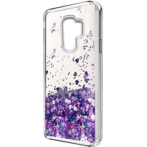 - Galaxy S9 Plus Case, Samsung S9 Plus Case, S9 Plus Case, Skmy Liquid Glitter Sparkle Girl Women Cute Clear TPU+Shockproof Hard PC Protective Case for Samsung Galaxy S9 Plus (Purple)