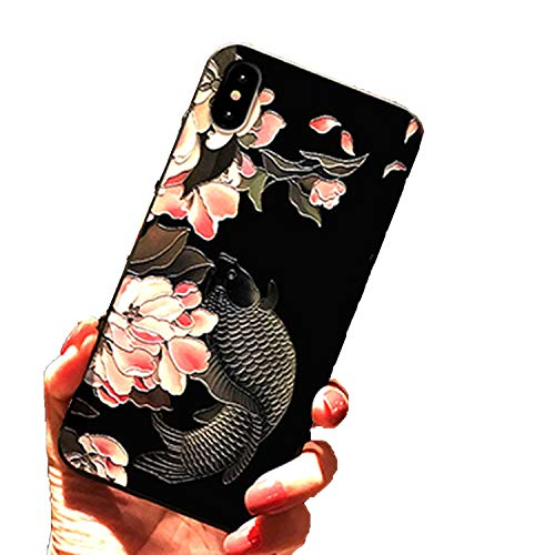for iPhone X XS Max XR 7 Plus 6 6s Plus Silicone 8 8plus Frosted Soft Shell 3D Embossed carvings Three-Dimensional Phone case,301,for 6plus and 6splus
