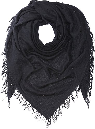 Chan Luu Women's Scattered Sequin Scarf Black One Size by Chan Luu