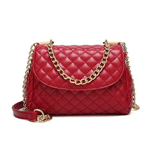 7 Bandolera Rojo Marrón Mujer Color Bolso Dabixx 91 20x8x15cm para 15x5 87x3 Negro AqO6O8