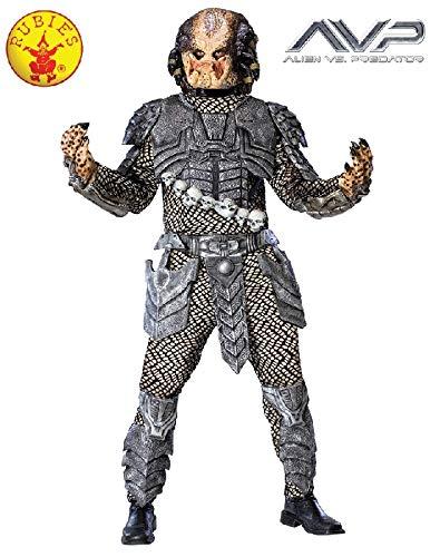 Aliens Vs Predator Deluxe Predator Costume, Black, Standard Size]()